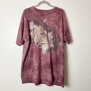 THE MOUNTAIN Two Hearts Horse Tie Dye T-Shirt